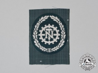 A Mint and Unissued TENO (Technical Emergency Help) Sleeve Patch