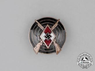 A Third Reich Period HJ Marksmanship Badge by Matthias Öschler & Sohn