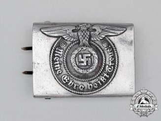 A Second War German Waffen-SS Enlisted Man's Belt Buckle by Assmann & Söhne