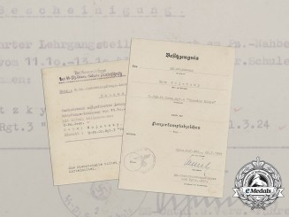 "Two Documents to the 5th Company of SS Panzer Grenadier Regiment 6 ""Theodor Eicke"""