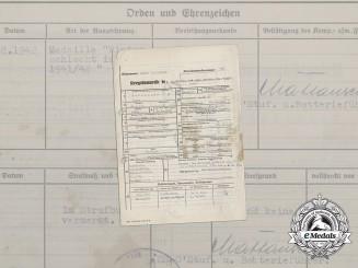 A Service Record to SS-Rottenführer Heinz Betzinger