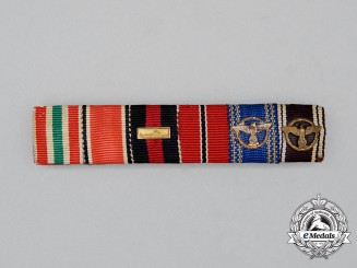 A Third Reich Period NSDAP Long Service Occupier Medal Ribbon Bar Grouping