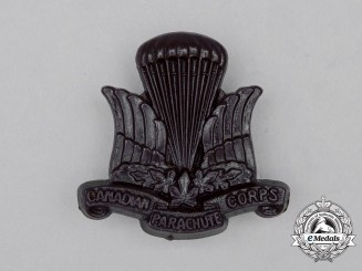 A Canadian Parachute Corps Cap Badge