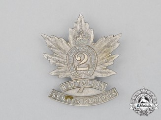 "A First War CEF 2nd Infantry Battalion ""Eastern Ontario Regiment"" Cap Badge"