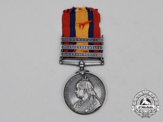 A Queen's South Africa Medal, to Trumpeter G.H. Pollard, 14th Company, Southern Division, Royal Garrison Artillery