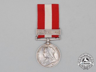 A Canada General Service Medal, to Private Hiram Kitely, Lloydtown Infantry Company