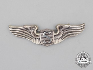 A Second War United States Army Air Force (USAAF) Service Pilot Badge, c. 1942