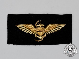 A United States Navy 1918 Pattern Bullion Pilot Wing