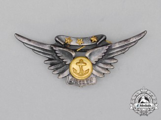 A Second War United States Navy (USN) Combat Aircrew Badge