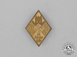 A 1934 HJ/WHW Donation Badge