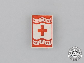 "A Third Reich Period DRK ""Help us to Help"" Donation Badge"