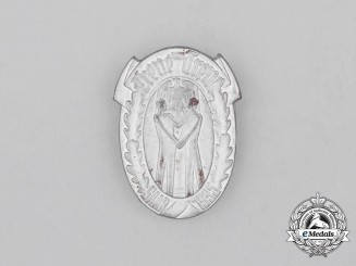 """A 1935 Saar """"Loyal and True"""" Event Badge"""