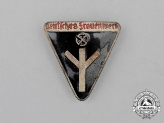 A German National Socialist Women's League Membership Badge; Type III by Rudolf Reiling