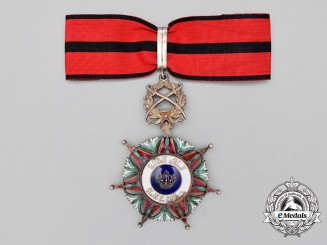 An Iraqi Order of the Two Rivers; Officer's Neck Badge, Military Division