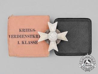 A Mint Cased Second War German War Merit Cross First Class; Marked Screwback Version