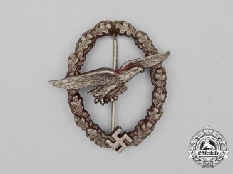 A Luftwaffe Glider Pilot Badge; Unmarked Juncker