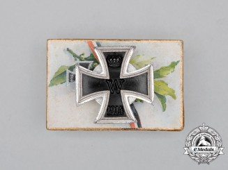 A Fine Prinzen Size Iron Cross 1914 First Class; Screwback Version in a Patriotic Box of Issue