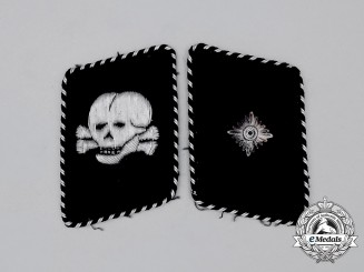 An Early Set of SS-Totenkopfverband Unterscharführer Rank Collar Tabs