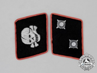 Germany, Waffen SS. A Set of Panzer Oberscharführer Rank Collar Tabs