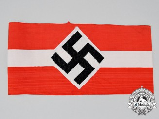 A Mint Third Reich Period HJ Member's Armband; RZM Tagged