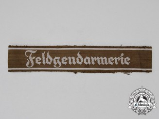 Germany. A Field Police (Feldgendarmerie) Cuff Title; Uniform Removed