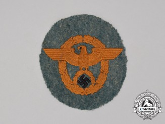 A German Gendarmerie Sleeve Eagle; Uniform Removed