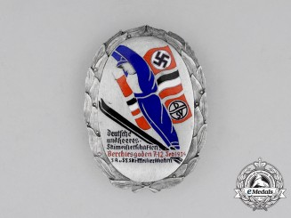 Germany. A 1934 Wehrmacht/SA/SS Ski-Championships in Berchtesgaden Award Badge