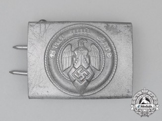 A HJ Member's Standard Issue Belt Buckle by Hermann Aurich of Dresden