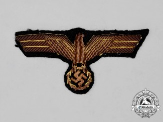 A Rare German Panzer Troop General's Breast Eagle; Uniform Removed