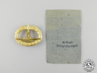 Germany, Kriegsmarine. A Submarine Badge by Schwerin in its Packet of Issue