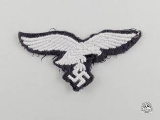 A Second War German Luftwaffe Enlisted Man's Overseas Cap Eagle