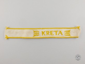 A Second War German Kreta Campaign Cuff Title; Uniform Removed