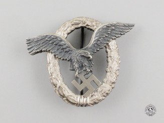 Germany. A Mint & Early Quality Luftwaffe Pilot's Badge by Gebrüder Schneider of Vienna