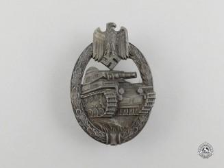 A Second War German Bronze Grade Panzer Badge by Hermann Aurich