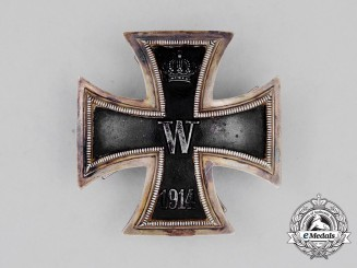 A High Quality Private Purchase Iron Cross 1914 1st Class; Silver Screwback