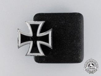 An Iron Cross 1939 First Class by Wilhelm Deumer in its LDO Case of Issue