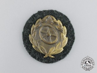 An Unissued Wehrmacht Heer (Army) Gold Grade Driver's Proficiency Badge