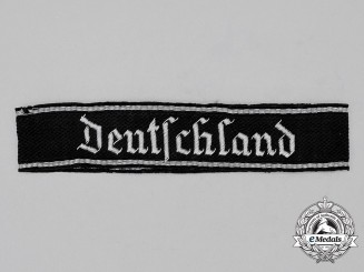 "Germany, Waffen-SS. A Panzer Grenadier 3 ""Deutschland"" Officer's Cuff Title"