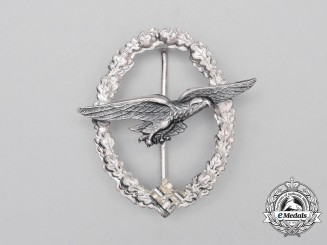 A Second War Luftwaffe Glider Pilot Badge; Dated 1944
