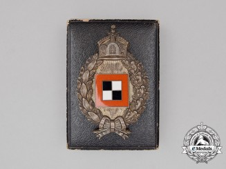 A Fine First War Prussian Observer's Badge by C. E Juncker of Berlin in its Case of Issue