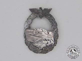 A French Made Kriegsmarine E-Boat Badge; First Type