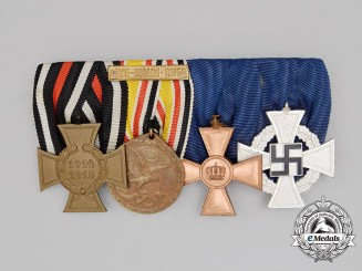 A First and Second War Chinese Campaign & Long Service Medal Bar