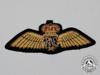 A QEII Royal Air Force (RAF) Pilot Dress Wing, Post 1953