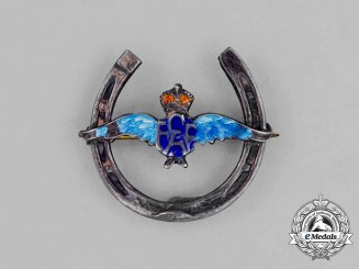 "A Second War Royal Canadian Air Force (RCAF) ""Good Luck"" Sweetheart Pin"