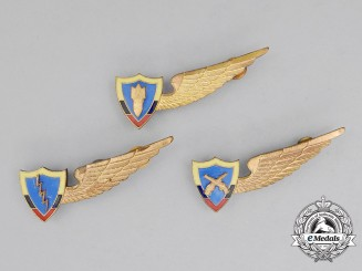 Three Colombian Air Force (FAC) Badges
