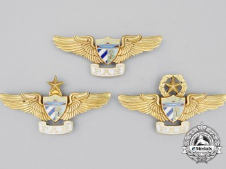 Three Cuban FAR Air Force Badges