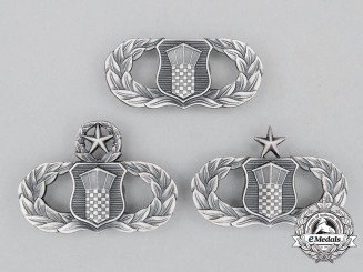 Three United States Air Force (USAF) Air Traffic Control Badges