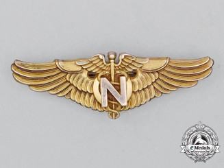 A Second War United States Army Air Forces (USAAF) Flight Nurse Badge, c. 1942