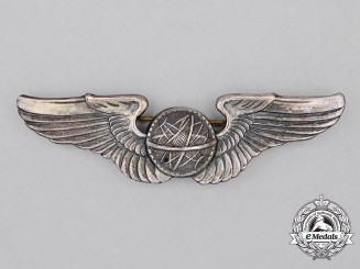 A Second War United States Army Air Forces (USAAF) Navigator Badge, c. 1942