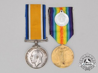 A First War Pair & Mons Medal to the 34th Battery, Canadian Field Artillery
